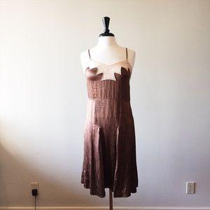 CHLOE // bronze satin slip dress